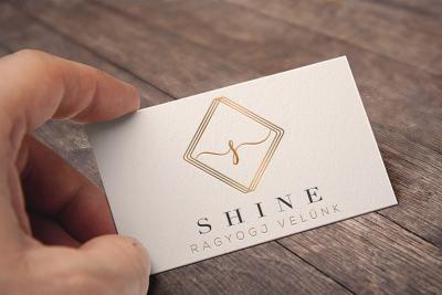 feminine logo design, shine, gold logo, squared logo