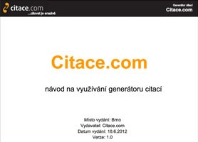 Generátor citací Citace.com