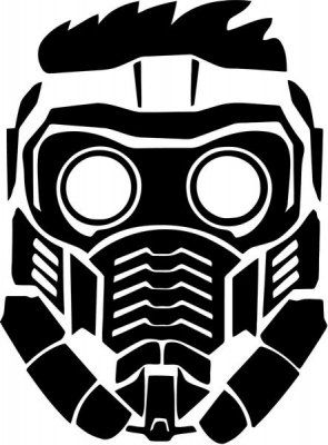 Vinyl Decal Sticker Star Lord Peter Quill Mask Decal For