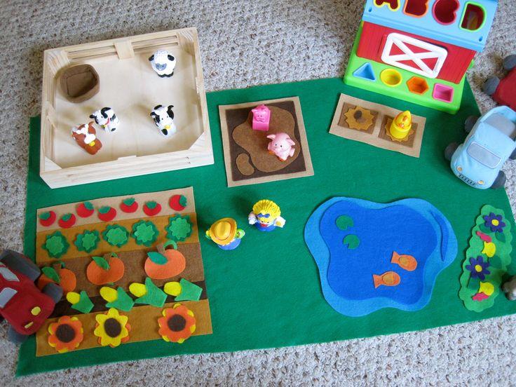 Christmas gift: felt farm ideas.