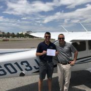 Sammy Wang 17 earns Private Pilots License