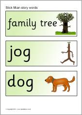 Stick Man story word cards (SB9159) - SparkleBox