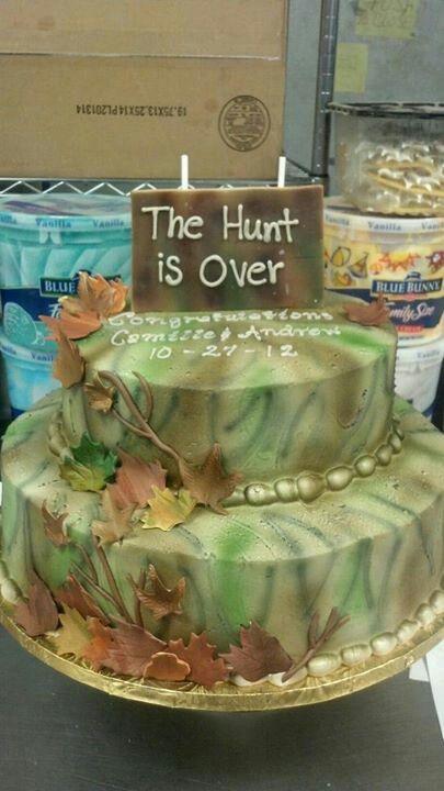 Camo Bridal Shower cake