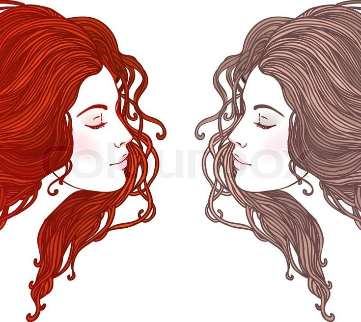 hairstyle vector art - Google Search