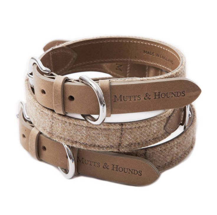 Tweed dog collars by Mutts & Hounds