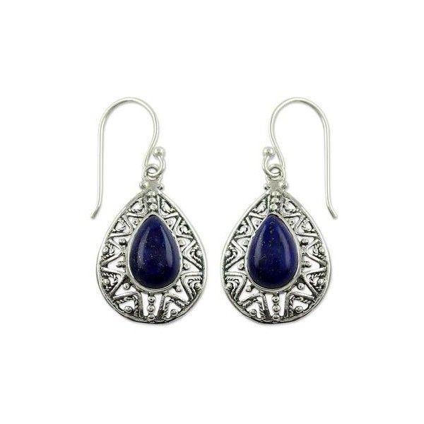 NOVICA Fair Trade Lapis Lazuli Handcrafted Earrings ($50) ❤ liked on Polyvore featuring jewelry, earrings, dangle, lapis lazuli, lapis lazuli jewelry, blue earrings, hand crafted jewelry, hand crafted earrings and lapis lazuli earrings