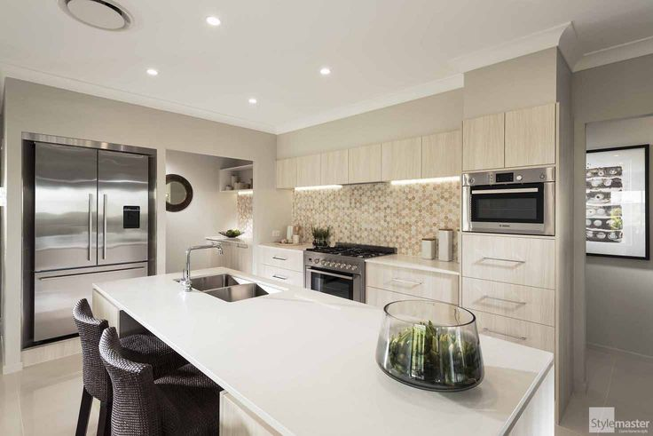 Kitchen in the Lakeview by Stylemaster Homes. On display at Warner Lakes.