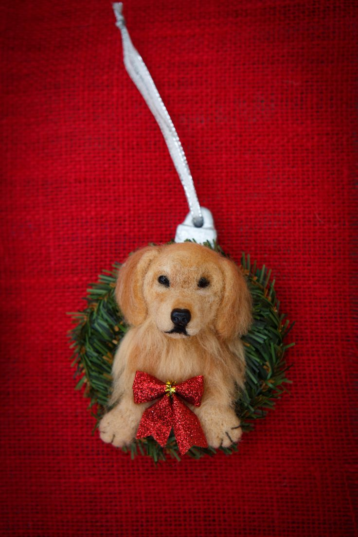 16 best needle felted pet christmas ornaments images on pinterest
