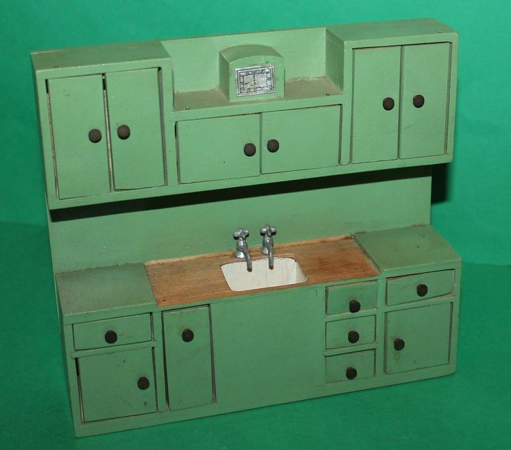 Dolls house large Barton kitchen dresser with clock
