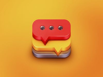 Dribbble - App Icon Design - Text It! by Dash