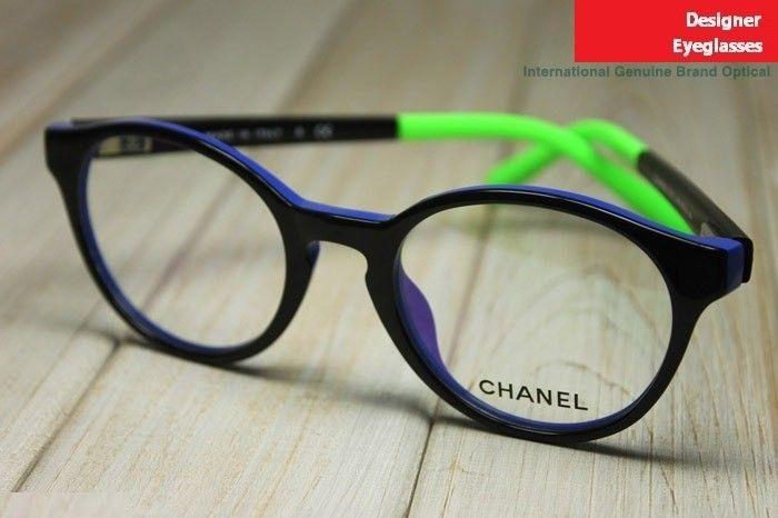 Chanel Eyeglasses Frames Lenscrafters : Chanel 3231 Korean Fashion Round-rim Eyeglasses Frame Blue ...