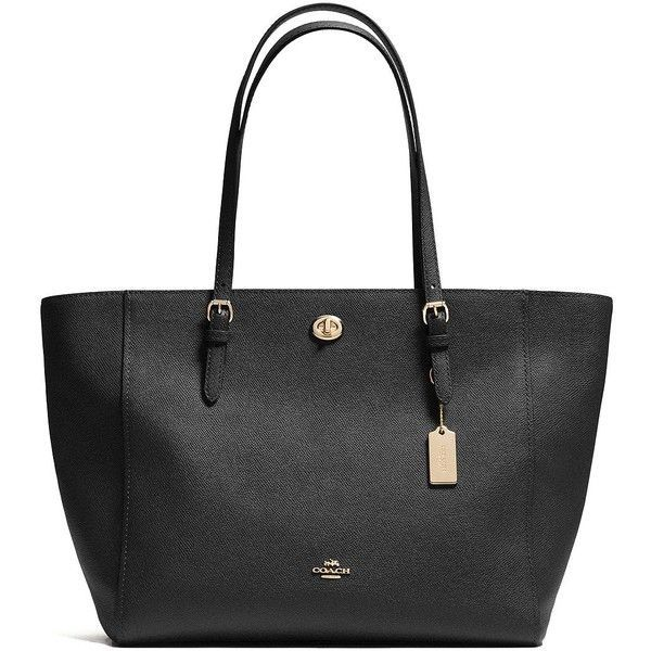 COACH Textured Leather Tote ($310) ❤ liked on Polyvore featuring bags, handbags, tote bags, apparel & accessories, coach handbags, coach tote, tote bag purse, coach purses and tote handbags