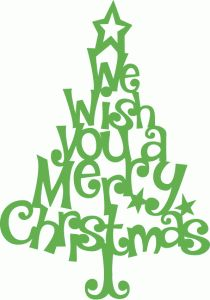 Silhouette Design Store - View Design #70352: whimsical we wish you a merry christmas tree