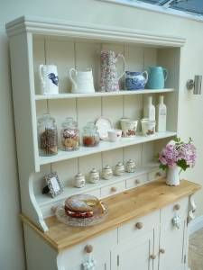 Beautiful Shabby Chic Welsh Dresser painted in Farrow & Ball Off White | eBay