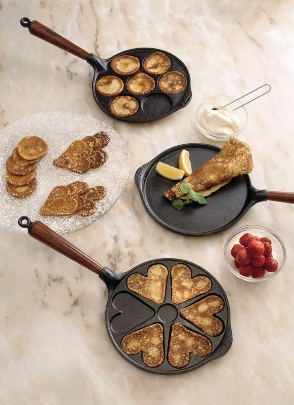 Patelnia do naleśników 23 cm, drewniana rączka - SKEPPSHULT - DECO Salon #pan #pancakes #kitchenaccessories #cooking #frying #giftidea