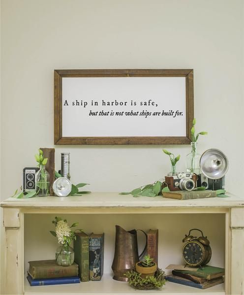 """Size is Approximately: 26"""" x 18"""" Printed Board + Black Text + Stained Wood Frame Please note these boards are lightweight (2-5 pounds) making decorating and rearranging a breeze! Hangers are included with all products. Ships within 2-7business days."""