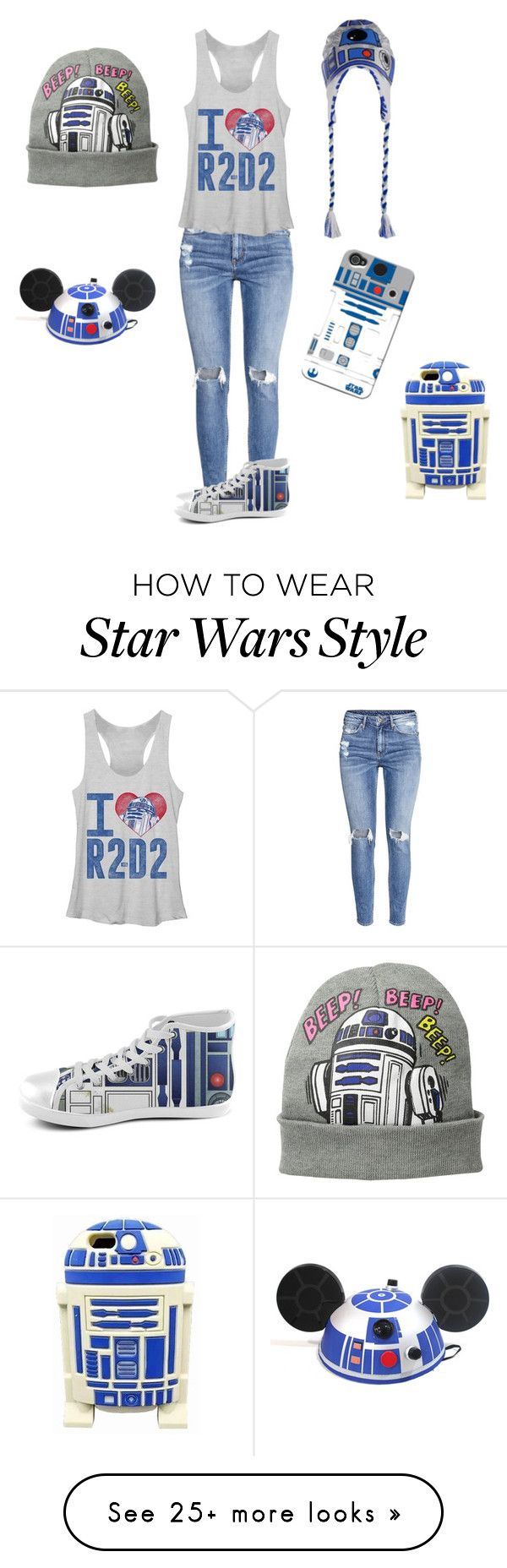 """R2-D2"" by ellaunicorns05 on Polyvore featuring H&M, R2, Disney and starwarsseason"
