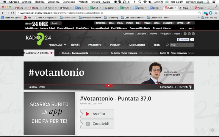 #socialPA raccontato a #votantonio. audio disponibile a: http://www.radio24.ilsole24ore.com/player.php?channel=2&idpuntata=gSLAQqDkQ&date=2013-06-01&idprogramma=votantonio [da minuto 10.00 circa]