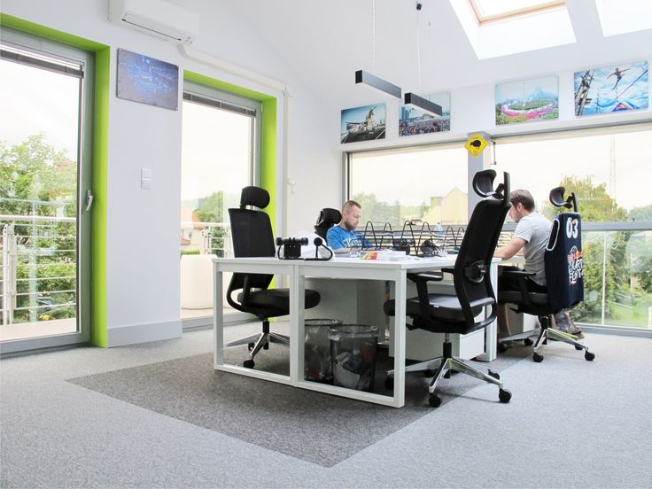 workspace office. Kolektyw Office Bright White With Touch Of Colorful Furniture Workspace