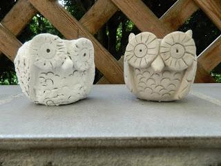 Pinch pot Clay Owls