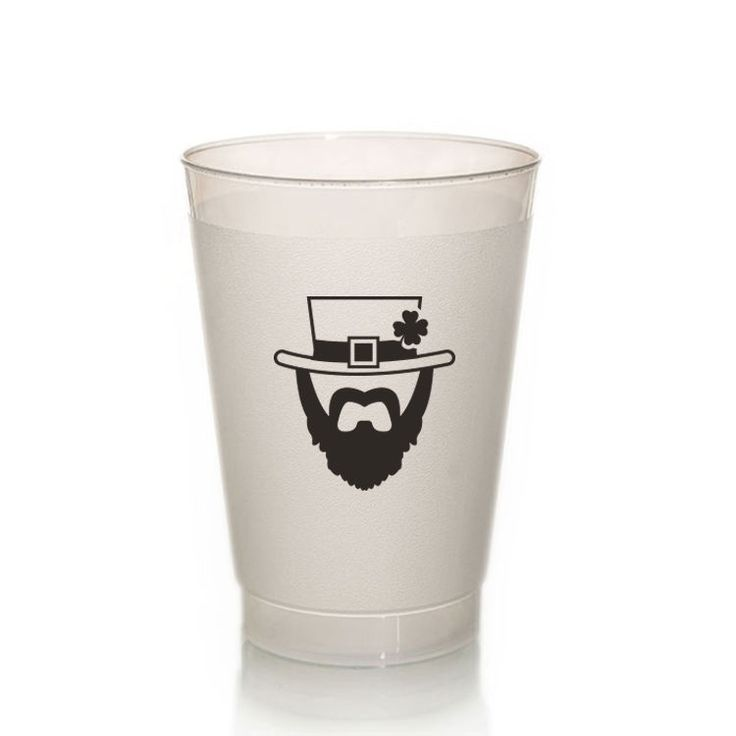 TCUP125 - Irish Leprechaun Cup - 8oz. Frosted Unbreakable Plastic Cup #stpatricksday #drinkware