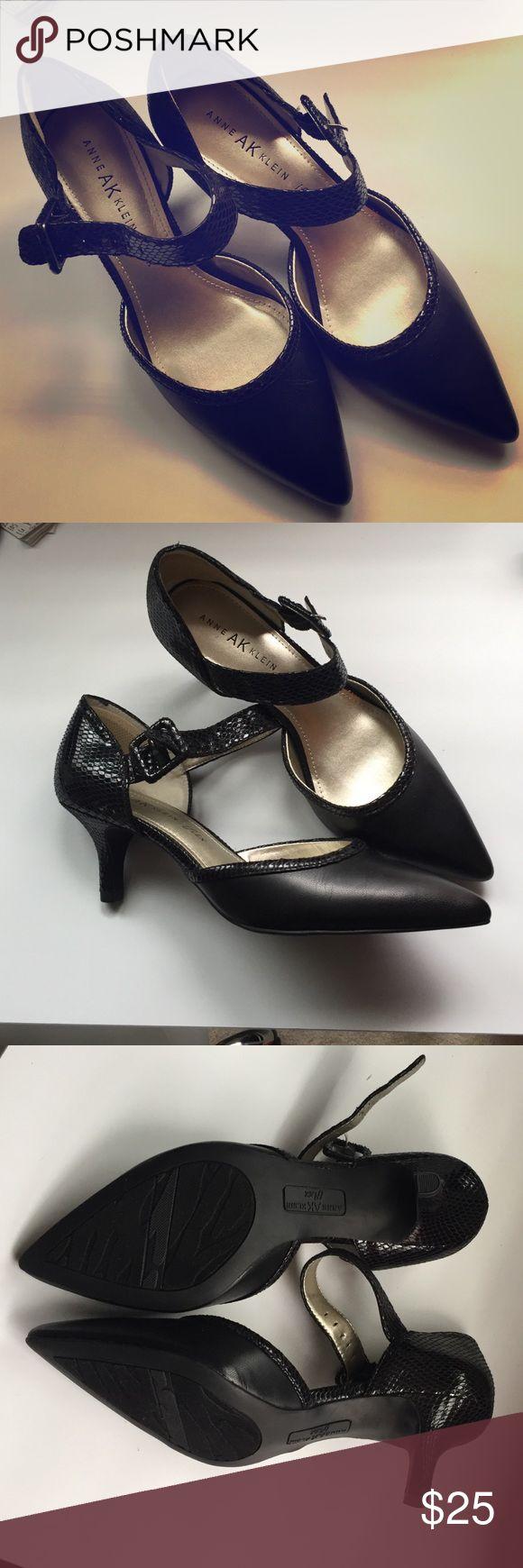 Heels Black heels with strap, Never worn! Anne Klein Shoes Heels