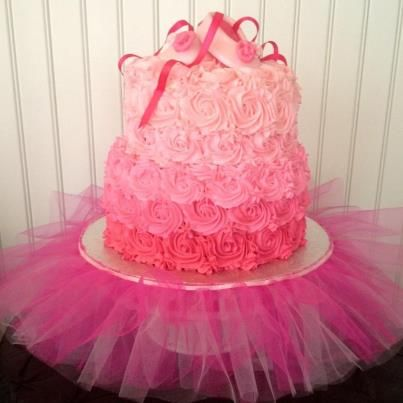 @Libby Clarke This is cute, but maybe in lavendar... with the layers on the inside various shades of purple...and probably only one tier. :)