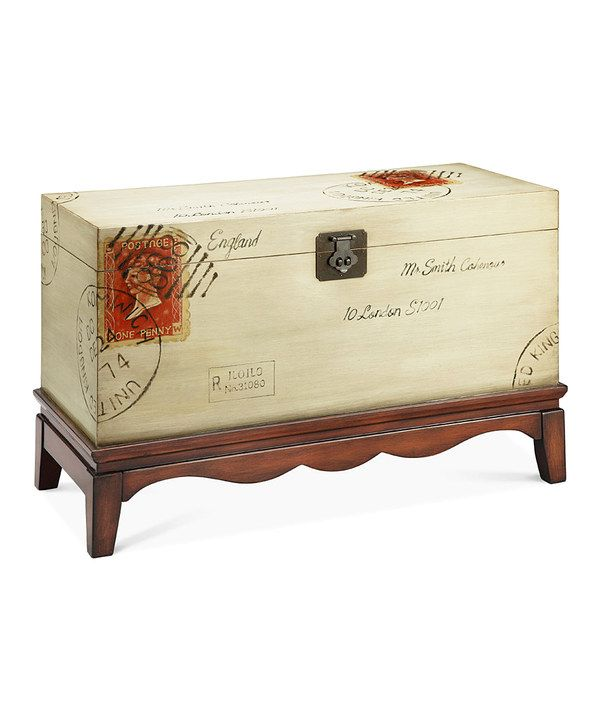 Take a look at this Antique Cream Postage Trunk Chest on zulily today!