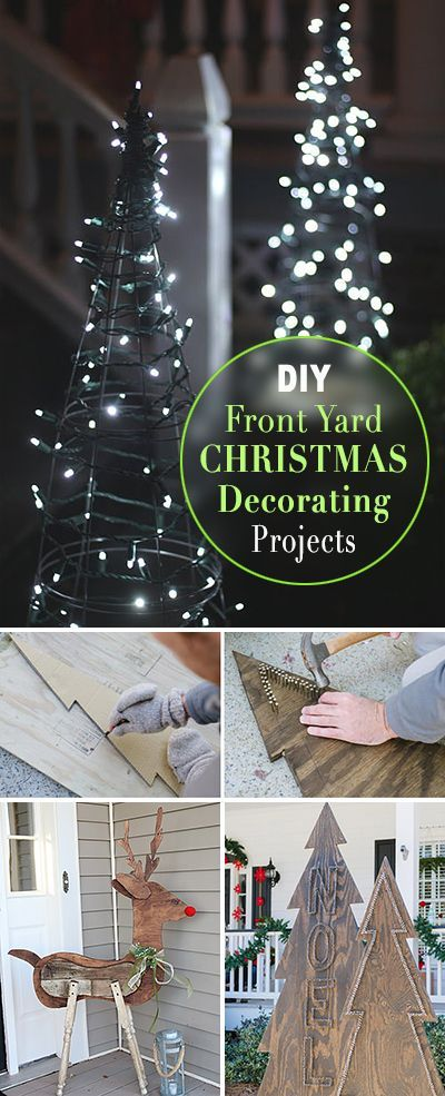 DIY Front Yard Christmas Decorating Projects ~ A round-up of great Ideas and Tutorials!
