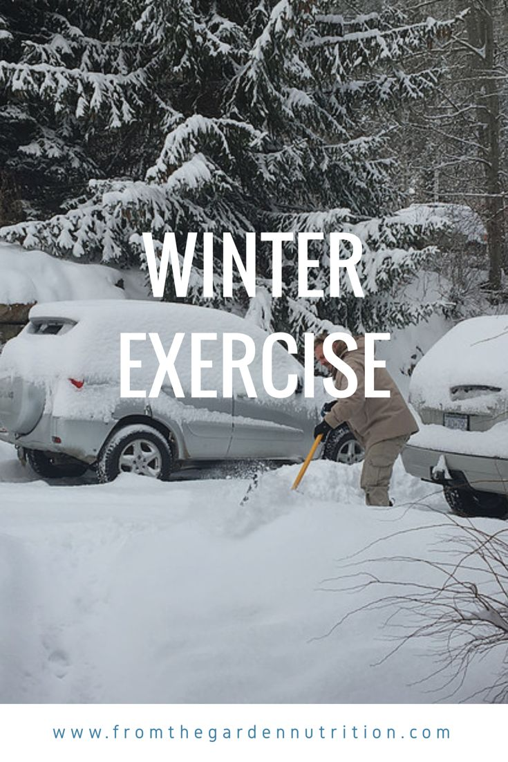 Here are some exercise tips for the snow season. #exercise #winter #snow #calorieburning