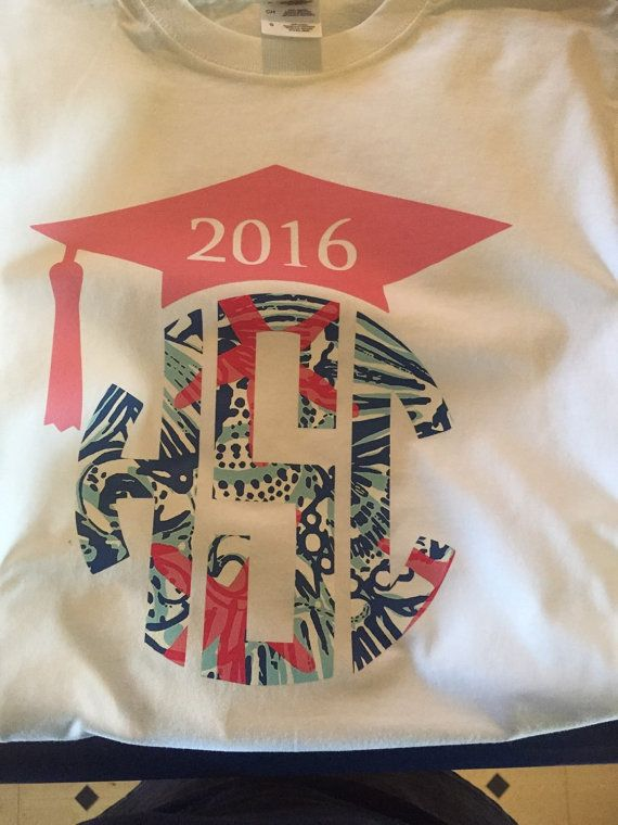 Hey 2016 Seniors! Lilly Pulitzer Inspired Monogram & Graduation Cap. To…