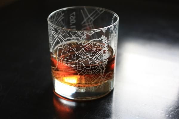 Make it a whiskey with our 11 oz Map Rocks Glass etched with the city streets and neighborhoods of Boston. One if by land, two if by sea, three if you're having
