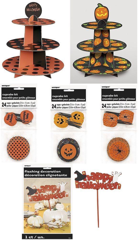 Halloween Cupcake Stands Hülle & Dekorationen Range (Tasse Kuchen Backen Flagge in Möbel & Wohnen, Kochen & Genießen, Backzubehör & Kuchendekoration | eBay
