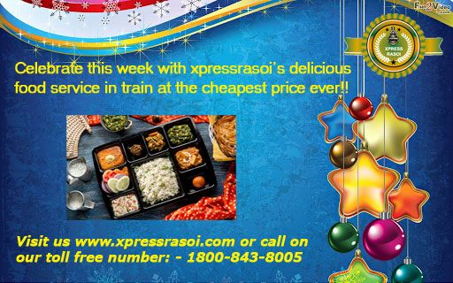 Celebrate this week with xpressrasoi delicious food service in train.at the cheapest price ever!! #foodontrain  #orderfoodintrain  #onlinefoodorderintrain Order any dish East Indian, South Indian,North Indian etc. #fooddeliveryintrain #jainfoodintrain  #foodintrain  Food will be just at your seat….to know more visit us www.xpressrasoi.com or call on our toll free number: - 1800-843-8005