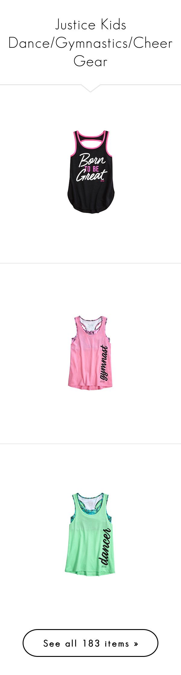 """Justice Kids Dance/Gymnastics/Cheer Gear"" by gymholic ❤ liked on Polyvore featuring gymnast and sport"