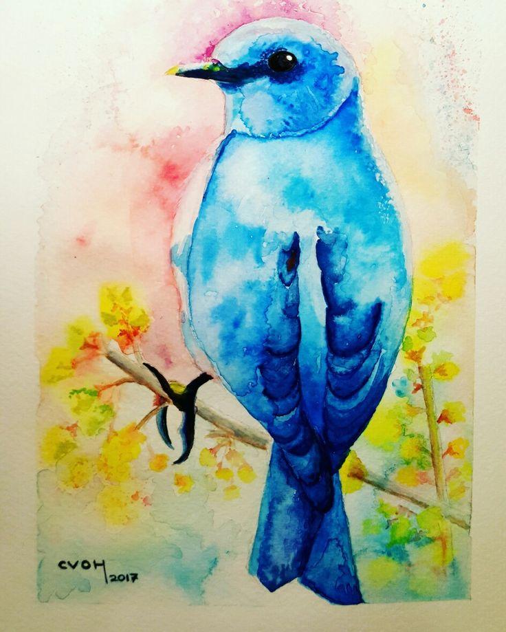 #CVOH #acuarela #watercolor #aquarelle #pasión #naturaleza #flora #flores #aves #pajarito #PrimaveraVenAmi #Septiembre #Panul #2017 #Chile