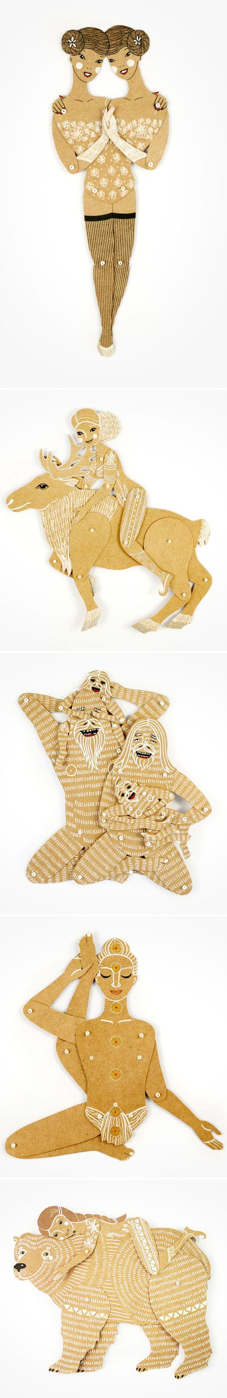 Maria Dubrovskaya ~ paper dolls (these are awesome!)