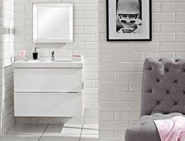 White wall tiles.  Metro White Wall Tile (20x10cm) | Topps Tiles