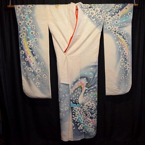Te koop Vintage Japanse vrouw Furisode Kimono badjas