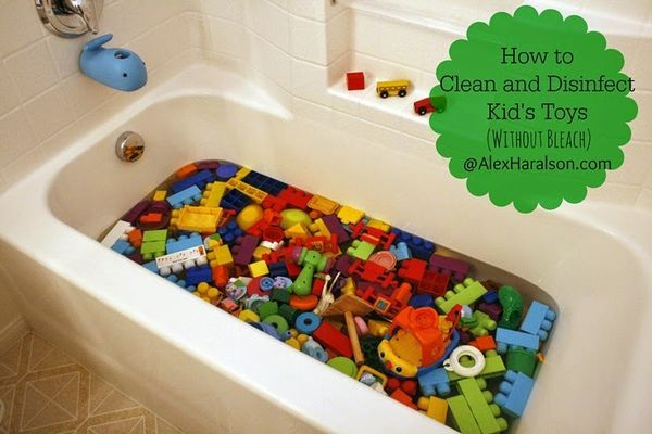 Clean and Disinfect Kid's Toys (without toxic bleach) http://www.alexharalson.com/2014/04/clean-and-disinfect-kids-toys.html