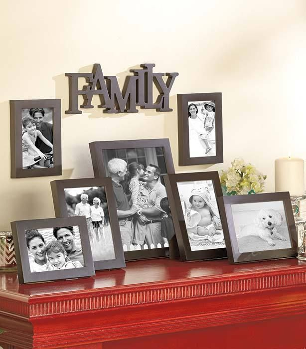 8 Pc Family Black Photo Collage Picture Frames Set Wall Table Home Decor In Home