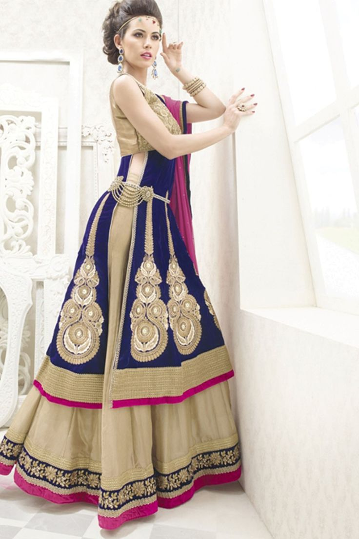 Presenting Cream Faux Georgette #Lehenga #Choli with Embroidered and Lace Work  Order Now@ http://zohraa.com/cream-faux-georgette-lehenga-choli-mhshanaya106.html  Rs. 10,649.