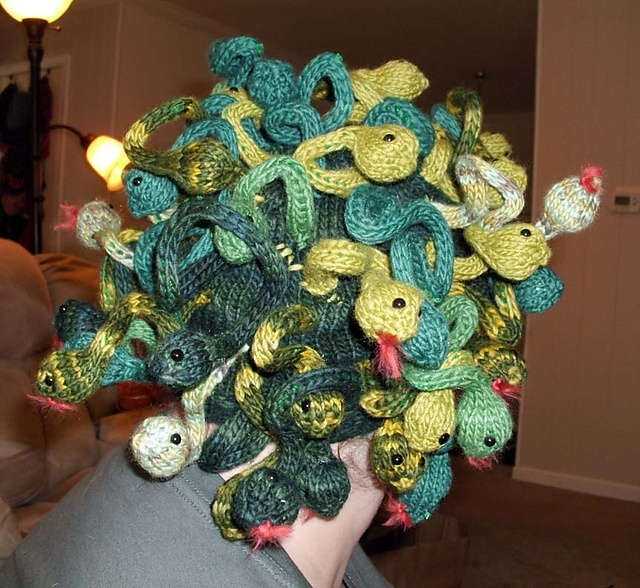 This Is Amazing: Knitted Medusa Hat! This Is Amazing.