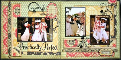 Practically Perfect scrapbook layout ideaScrapbook Ideas, Mary Poppins, Sketches Savvy, Scrapbook Disney, Disney Layout, Disney Scrapbook, Scrapbook Layout, About 1935, Practice Perfect