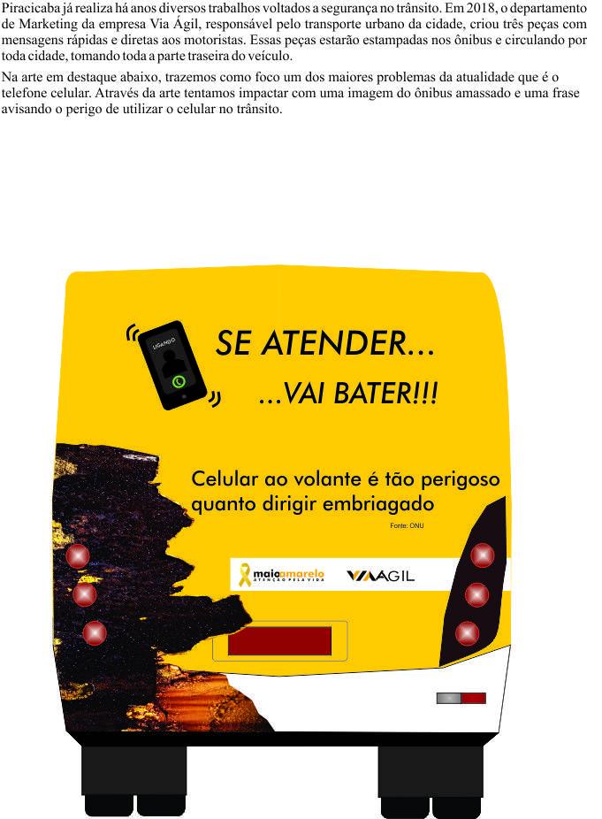 Campanha Maio Amarelo Com Imagens Seguranca No Transito Maio