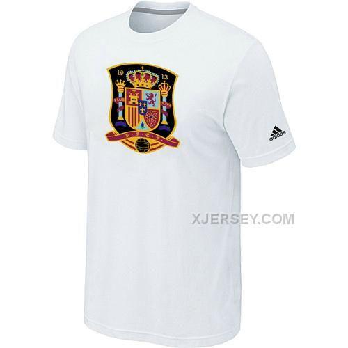http://www.xjersey.com/adidas-national-team-spain-big-tall-men-tshirt-white.html ADIDAS NATIONAL TEAM SPAIN BIG & TALL MEN T-SHIRT WHITE Only $27.00 , Free Shipping!