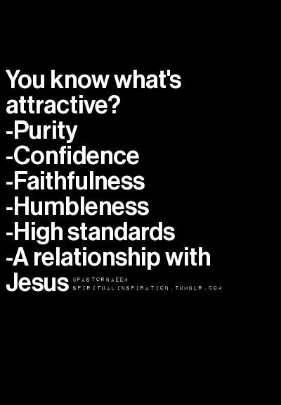 Yes but the relationship with Jesus always comes first then all those goods qualities follow