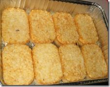 "Previous Pinner wrote: ""Sunday School Breakfast Casserole: I used Ore Ida crispy crown tater tots instead of hashbrowns. I baked them for about 20 minutes before I added other ingredients and I didn't use 4 cups cheese. I used a little less than 3 and it was PUH-LENTY and my family loves cheesy casseroles."""