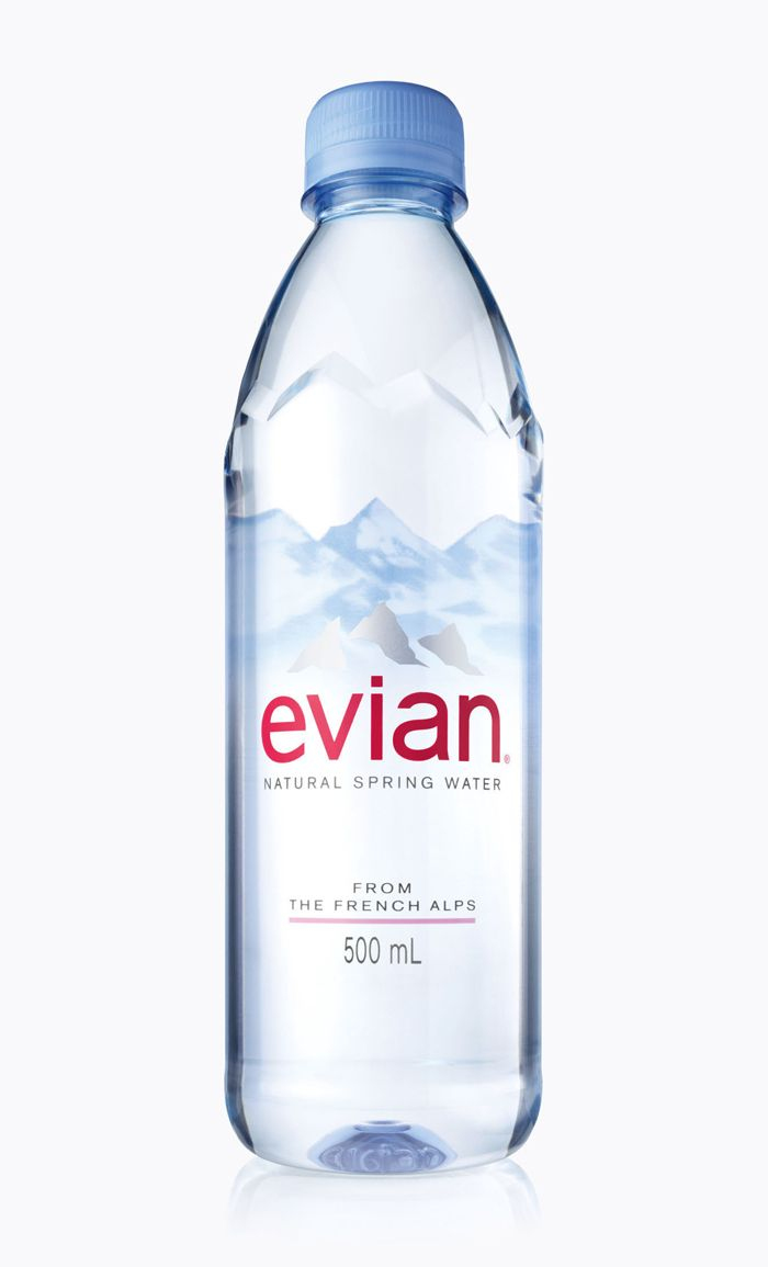Beautifully simple new Evian bottle
