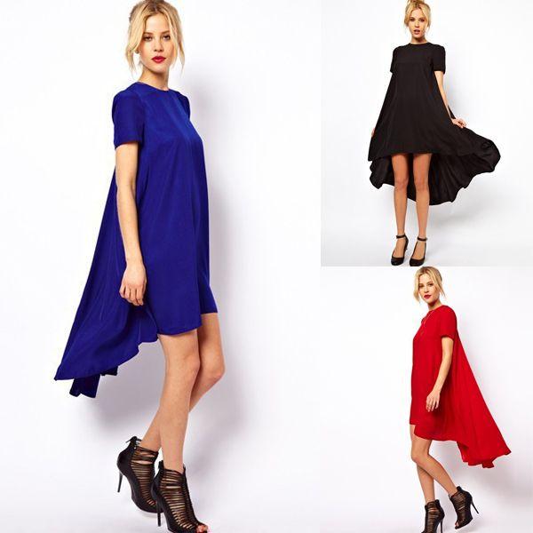 Assymetrical Chiffon Women Dress